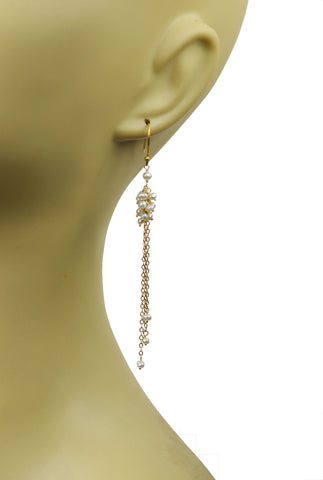 Pearl Cluster Vermeil Earrings