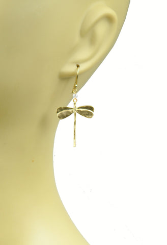 Image of Dragonfly White Topaz Earrings