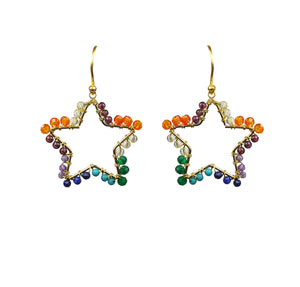Chakra Star Vermeil Earrings