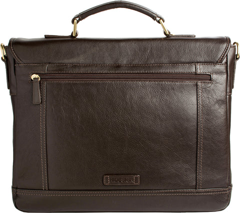 "Image of Hunter 15"" Laptop Compatible Leather Briefcase"