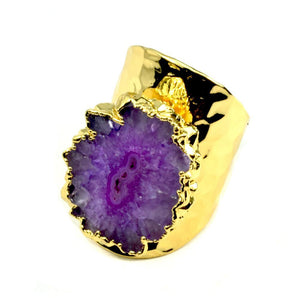 Baily Geode Statement Ring in Gold