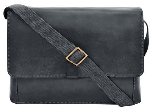 Image of Aiden Leather Business Laptop Messenger Cross Body Bag
