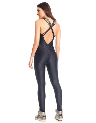 Image of QUEEN BEE BLACK WORKOUT JUMPSUIT