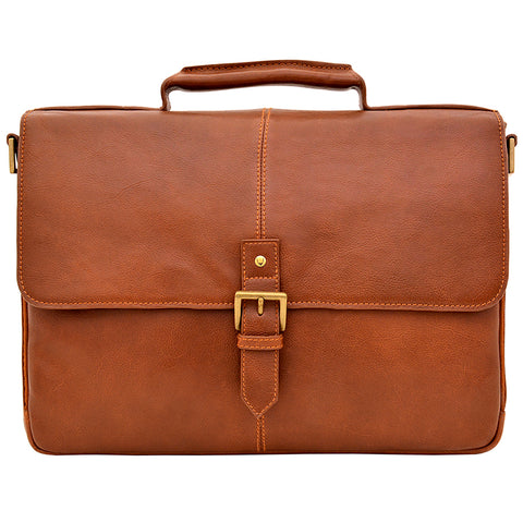 "Image of Hidesign Charles Leather 15"" Laptop Compatible Briefcase Work Bag"