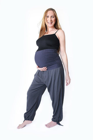 Image of Maternity Pregnancy Yoga Kung Fu Pants Long Organic Eco-Friendly