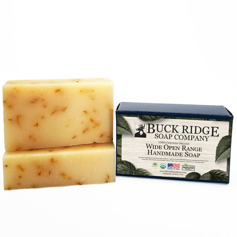 Image of Wide Open Range Men's Handmade Soap - USDA Certified Organic