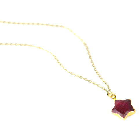 Image of Ruby Star Necklace