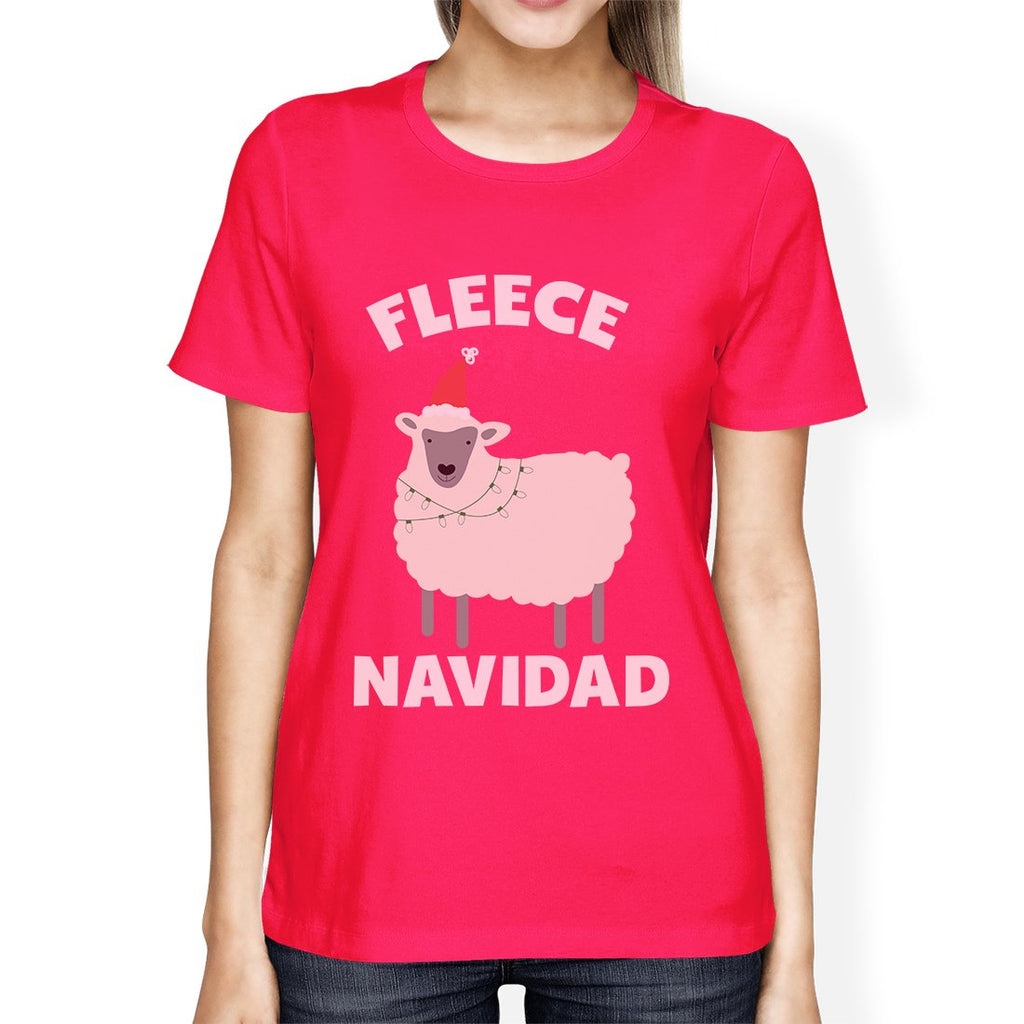 Fleece Navidad Womens Funny Christmas In July Gift For Her T-Shirt
