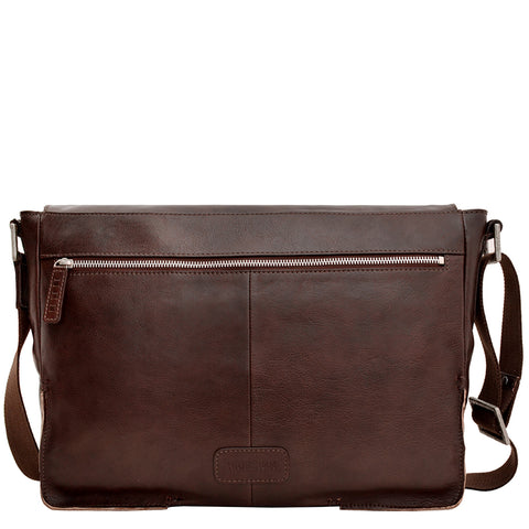 Image of Hidesign Fred Leather Business Laptop Messenger Cross Body Bag