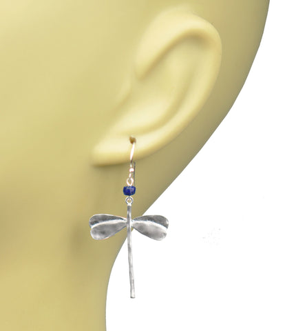 Dragonfly Lapis Lazuli Earrings