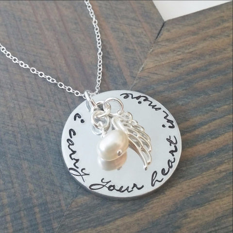 I Carry Your Heart in Mine Necklace