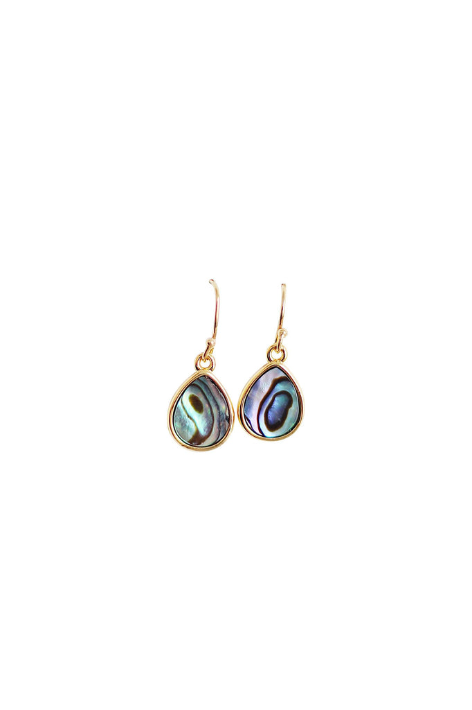 Abalone Teardrop Earrings in Gold