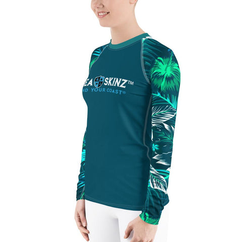 Image of Women's Veronica Sleeve Sea Skinz Performance Rash Guard UPF 40+