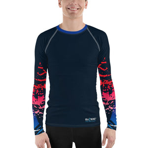 Men's Find Your Coast Victory Sleeve Sea Skinz Performance Rash Guard UPF 40+