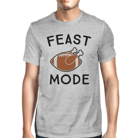 Image of Feast Mode Mens Grey Shirt