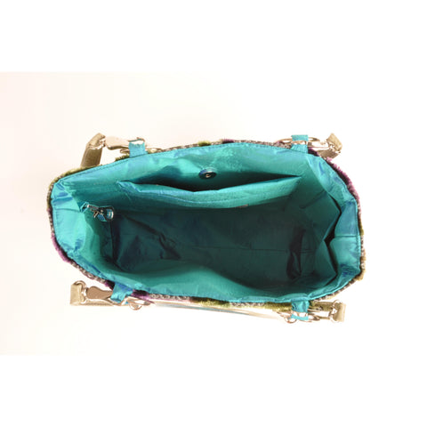 Baroque Teal Small Tote