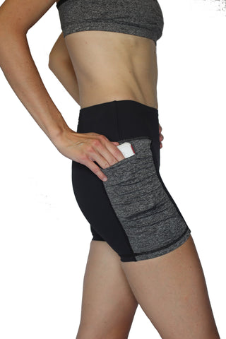 Image of Pocket Short - Black and Gray 3 inch