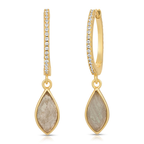 Image of Lola Gold Labradorite Earrings
