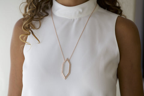Image of Harlow Rose Gold - Magnifier Pendant Necklace