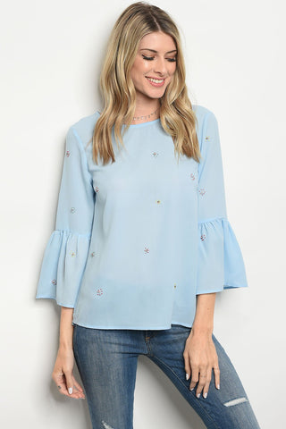 Image of Womens Blue Top