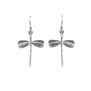 Dragonfly Mystic Labradorite Earrings