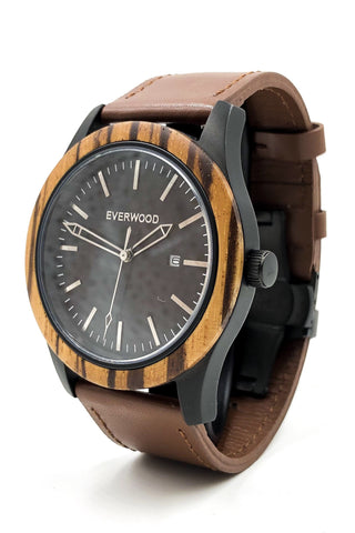Image of Inverness | Zebrawood | Brown Leather