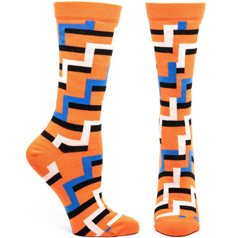 Image of Zipping Zig Zag Sock