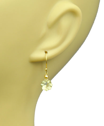Lemon Citrine Vermeil Drop Earrings