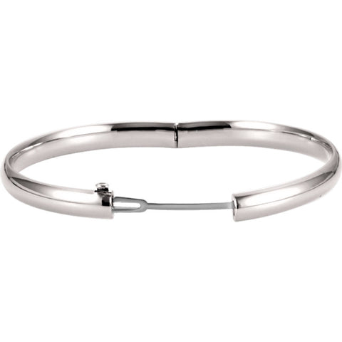 Hinged 6.5mm Bangle Bracelet