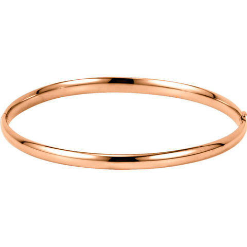 Hinged Bangle Bracelet 4mm