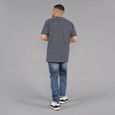 Image of S&D LA Vintage Striped Tee (Navy & White)