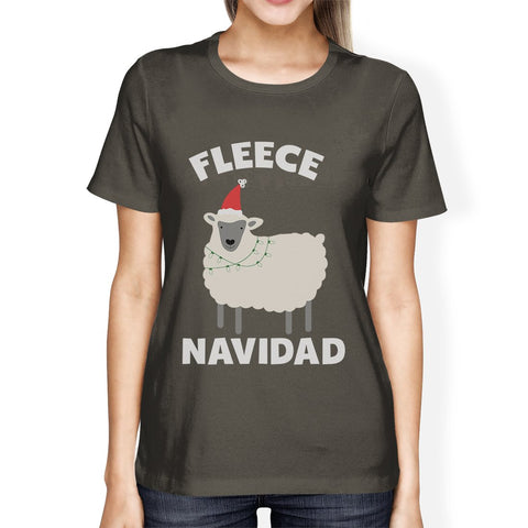 Image of Fleece Navidad Womens Funny Christmas In July Gift For Her T-Shirt