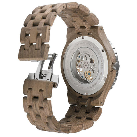 Image of Men's Premium Self-Winding Transparent Body Walnut Wood Watches