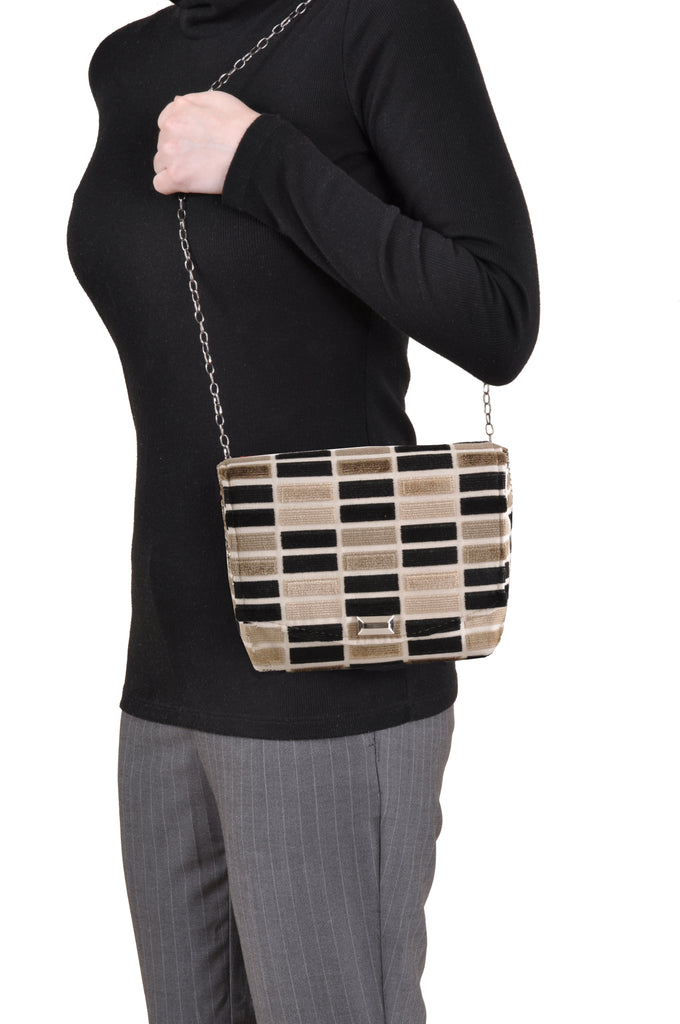 Block Black square clutch