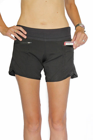 Runner's Dream 5 Pocket Short - Black