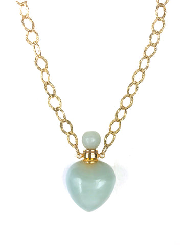 Image of Amazonite Heart Chain Necklace