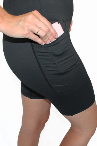 Pocket Short - Black 7 inch