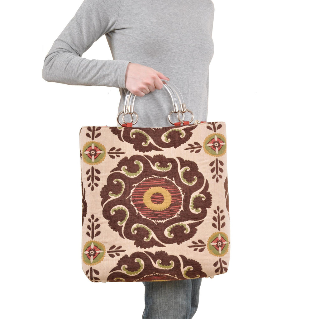 Marakesh Brown Large Tote