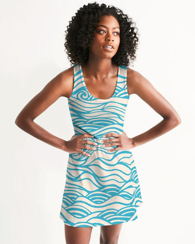 Image of Women's Wave Places Casual Racerback Dress