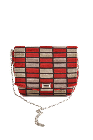 Image of Block Red square clutch