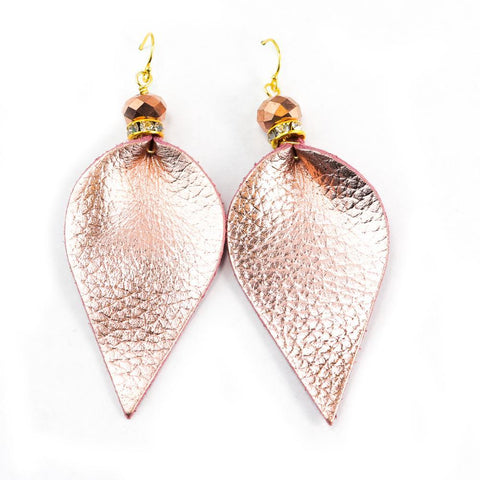 Image of Alice Leather drop Earrings in Sterling Silver