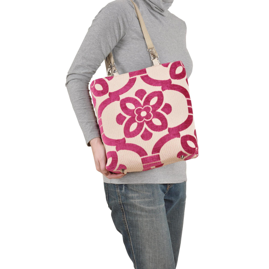 Stencil Brown Small Tote