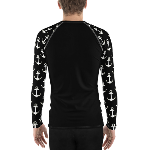 Image of Men's Anchor Sleeve Performance Rash Guard UPF 40+