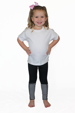 Image of Black with Stripes - Pocket Pant - Kids