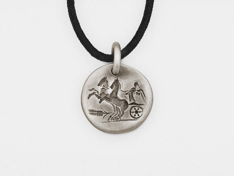 "Image of ""Chariot"" Intaglio Pendant in Sterling Silver"