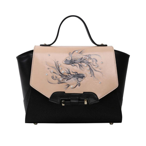 Image of Fish Small Black Satchel