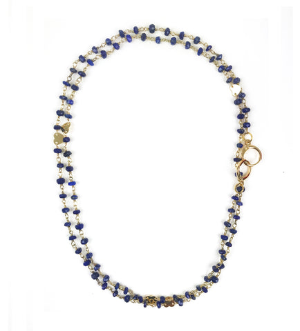 Image of Lapis Lazuli Heart Convertible Mask Necklace