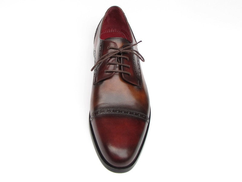 Paul Parkman Men's Bordeaux / Tobacco Derby Shoes  (ID#046-BRD-BRW)
