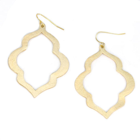 Image of CJ Large Brushed Gold Earrings
