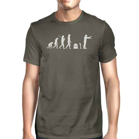 Image of Zombie Evolution Mens Dark Grey Shirt
